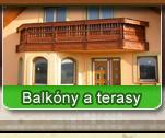 Balkóny, terasy, zahradní nábytek